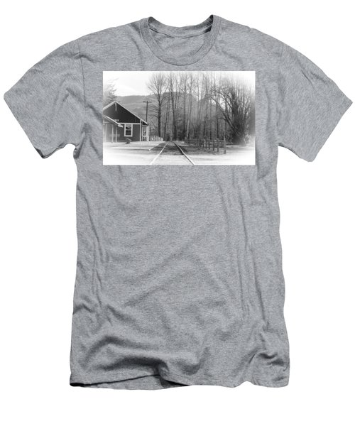 Men's T-Shirt (Athletic Fit) featuring the photograph Country Train Depot by Tikvah's Hope