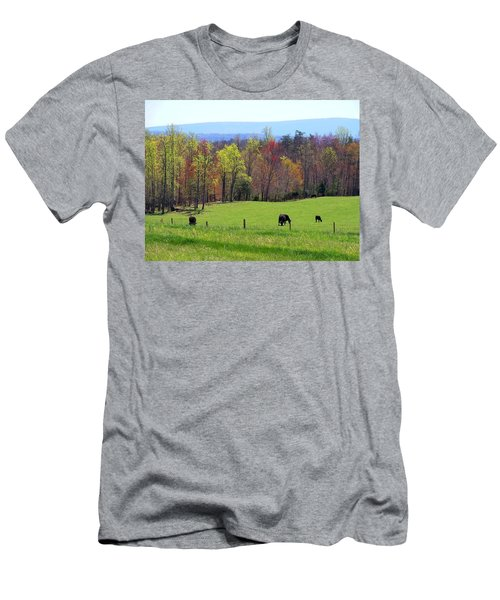 Men's T-Shirt (Slim Fit) featuring the photograph Countryside In Spring by Kathryn Meyer