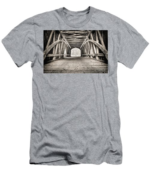 Covered Bridge B N W Men's T-Shirt (Athletic Fit)