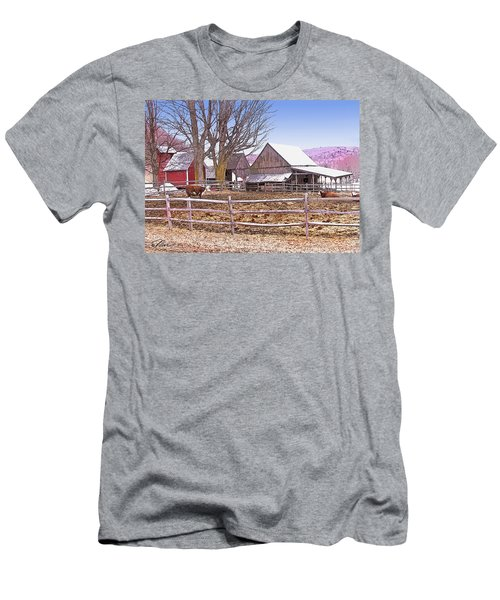 Cows At Jenne Farm Men's T-Shirt (Athletic Fit)