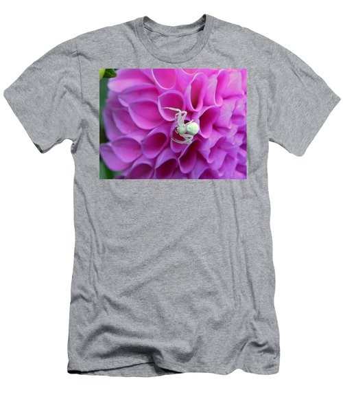 Crab Spider And Dahlia Men's T-Shirt (Athletic Fit)