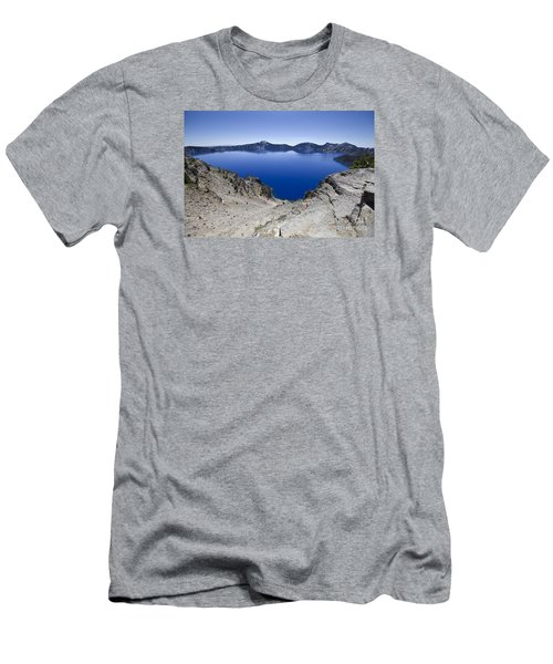 Men's T-Shirt (Slim Fit) featuring the photograph Crater Lake by David Millenheft