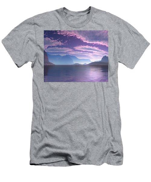 Crescent Bay Alien Landscape Men's T-Shirt (Athletic Fit)