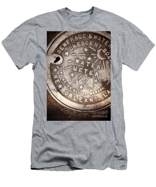 Crescent City Water Meter Men's T-Shirt (Slim Fit) by Valerie Reeves