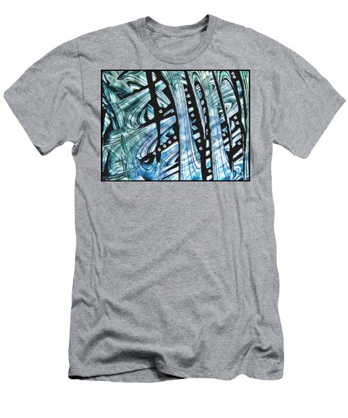 Criss Cross Lines Abstract Alcohol Inks Men's T-Shirt (Athletic Fit)