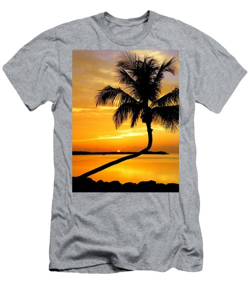 Crooked Palm Men's T-Shirt (Slim Fit) by Karen Wiles