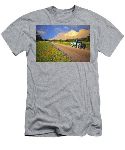 Crusin' The Hill Country In Spring Men's T-Shirt (Athletic Fit)