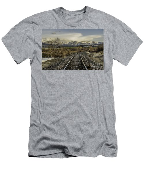 Curve In The Tracks Men's T-Shirt (Athletic Fit)