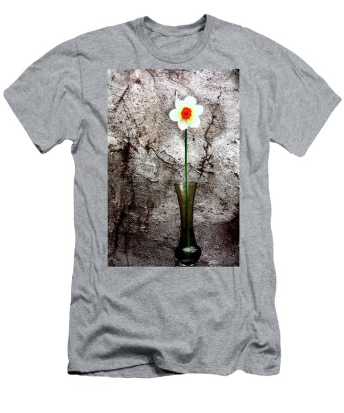 Men's T-Shirt (Slim Fit) featuring the photograph Daffodil by Gray  Artus