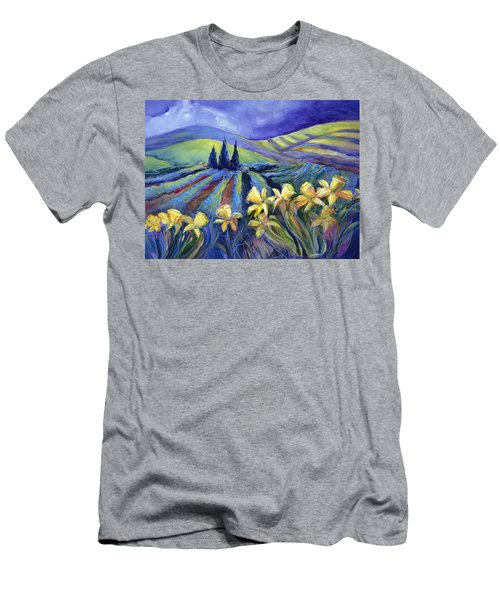 Daffodils And Stormclouds Men's T-Shirt (Athletic Fit)