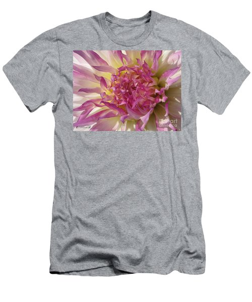 Men's T-Shirt (Slim Fit) featuring the photograph Dahlia Named Angela Dodi by J McCombie