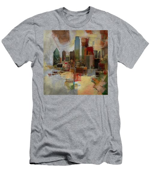 Dallas Skyline 003 Men's T-Shirt (Slim Fit) by Corporate Art Task Force