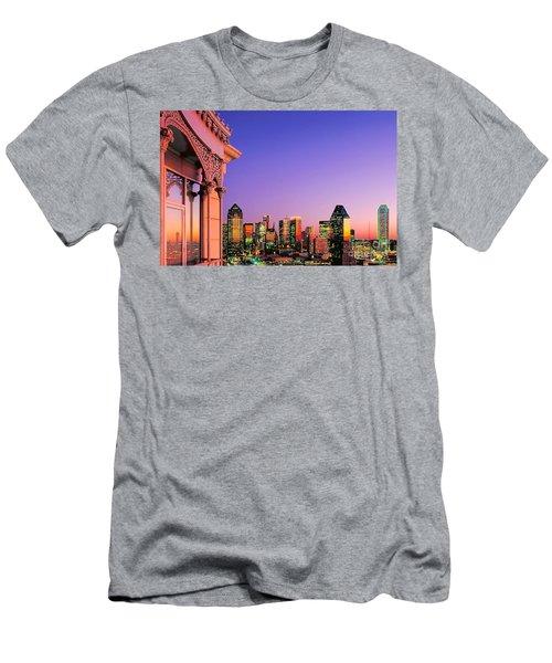 Dallas Skyline At Dusk Men's T-Shirt (Athletic Fit)