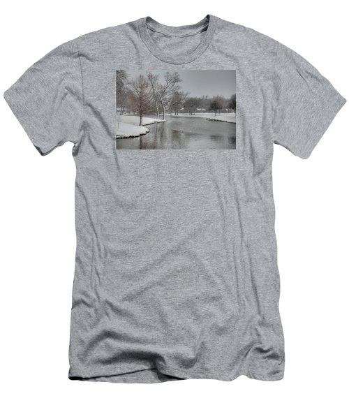Dallas Snow Day Men's T-Shirt (Athletic Fit)