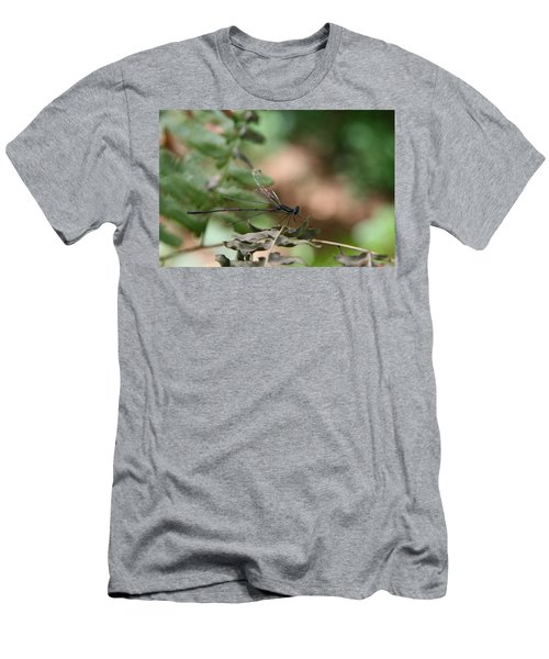 Men's T-Shirt (Slim Fit) featuring the photograph Damselfly by Neal Eslinger