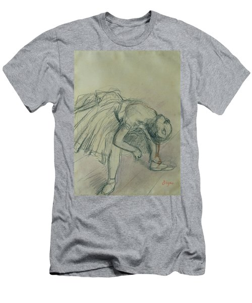Dancer Fixing Her Slipper Men's T-Shirt (Athletic Fit)