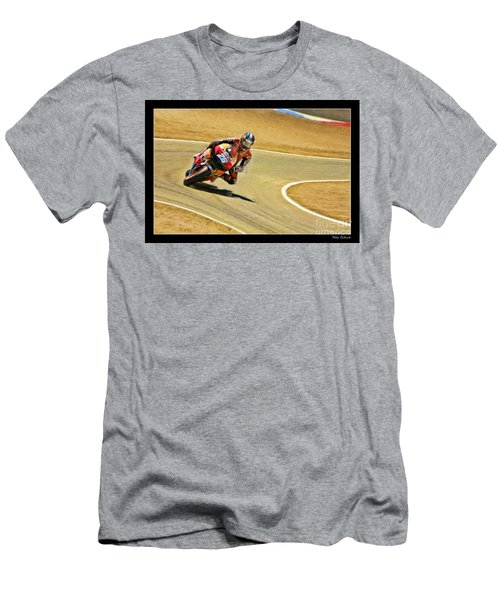 Dani Pedrosa Running Out Of Road Men's T-Shirt (Athletic Fit)