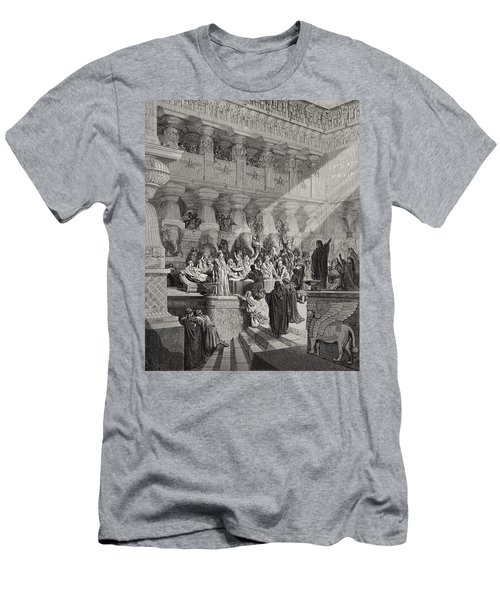 Daniel Interpreting The Writing On The Wall Men's T-Shirt (Athletic Fit)