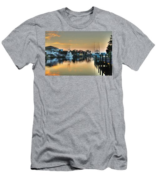 Dawn On A Orange Beach Canal Men's T-Shirt (Athletic Fit)