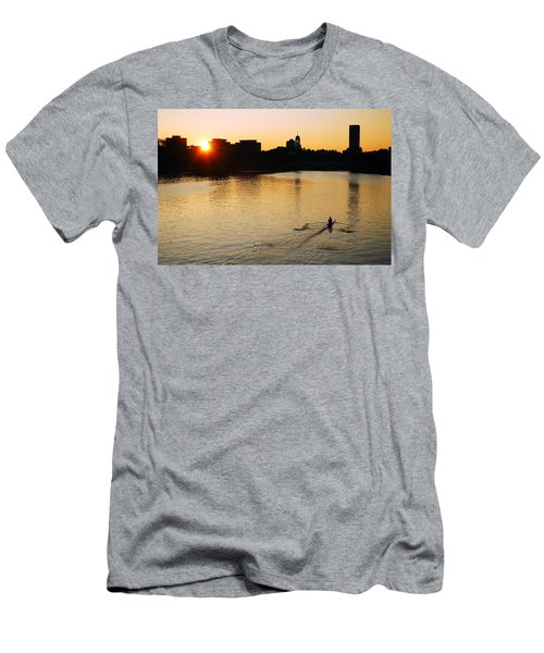 Dawn On The Charles Men's T-Shirt (Slim Fit) by James Kirkikis
