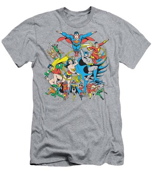 Dc - Justice League Assemble Men's T-Shirt (Athletic Fit)