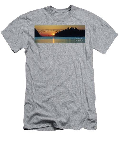 Deception Pass Bridge Sunset Men's T-Shirt (Athletic Fit)