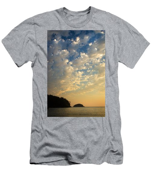 Men's T-Shirt (Slim Fit) featuring the photograph Deception Pass by Sonya Lang