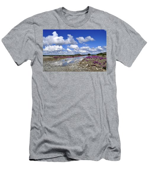 Men's T-Shirt (Slim Fit) featuring the photograph Delta Junction Summer by Cathy Mahnke