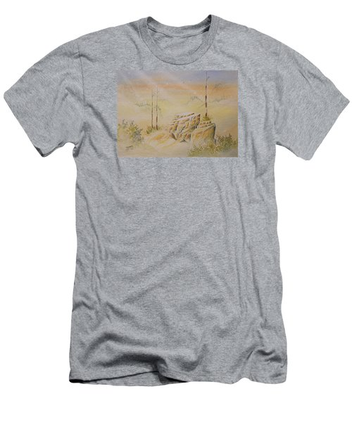 Men's T-Shirt (Slim Fit) featuring the painting Deschutes Canyon by Richard Faulkner