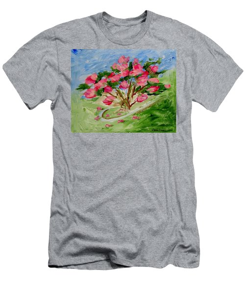 Desert Rose Abstract Men's T-Shirt (Athletic Fit)