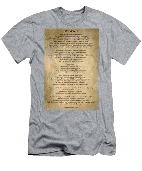 Desiderata - Scrubbed Metal Men's T-Shirt (Athletic Fit)