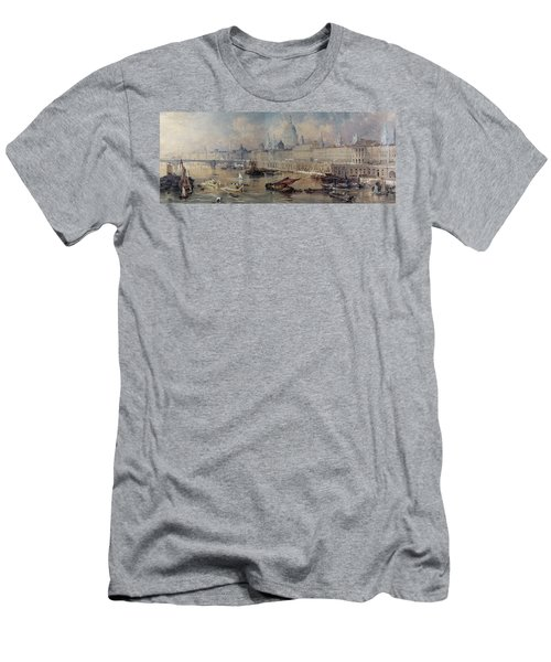 Design For The Thames Embankment Men's T-Shirt (Slim Fit) by Thomas Allom