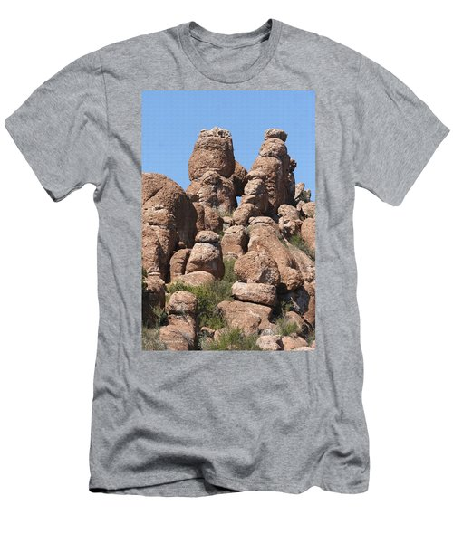 Men's T-Shirt (Slim Fit) featuring the photograph Devils Canyon Wall by Tom Janca