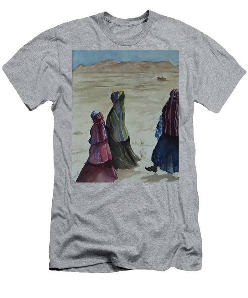 Dineh Leaving The Trading Post Men's T-Shirt (Athletic Fit)