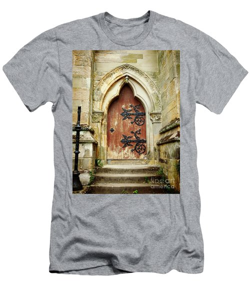Distressed Door Men's T-Shirt (Slim Fit) by Valerie Reeves