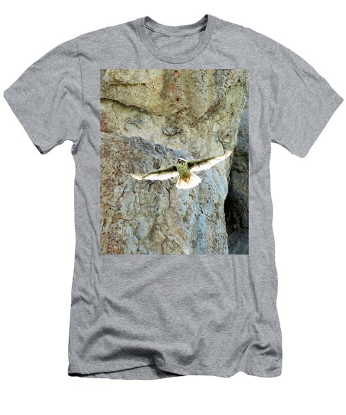 Diving Falcon Men's T-Shirt (Athletic Fit)