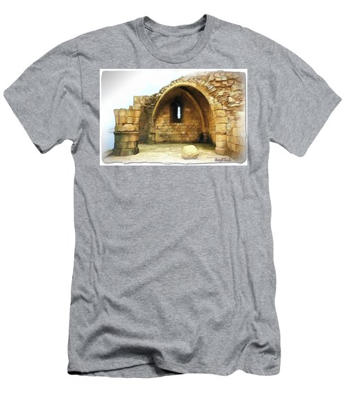 Men's T-Shirt (Athletic Fit) featuring the photograph Do-00427 Citadel Of Sidon by Digital Oil