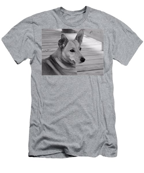 Dog In Black And White One Men's T-Shirt (Athletic Fit)