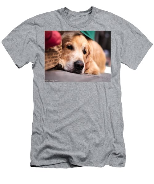 Men's T-Shirt (Athletic Fit) featuring the photograph Dog's Sorrow by Stwayne Keubrick