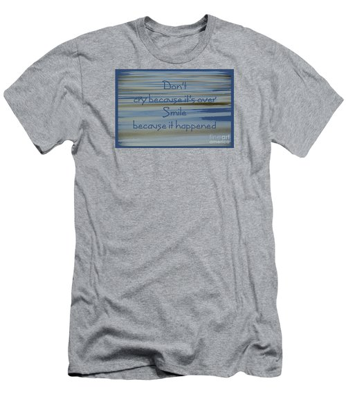 Don't Cry.....1 Men's T-Shirt (Slim Fit) by Wendy Wilton