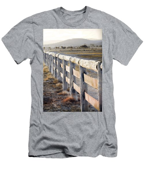 Don't Fence Me In Men's T-Shirt (Slim Fit) by Holly Kempe