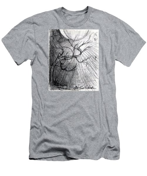 Men's T-Shirt (Slim Fit) featuring the drawing Doom Moon  by Mikhail Savchenko