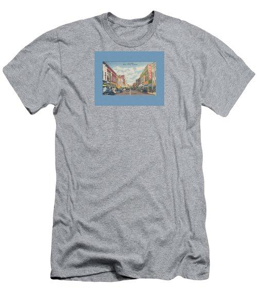 Downtown Bristol Va Tn 1940's Men's T-Shirt (Athletic Fit)