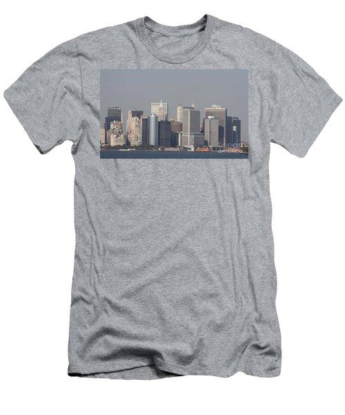 Downtown Manhattan Shot From The Staten Island Ferry Men's T-Shirt (Slim Fit) by John Telfer