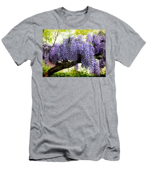 Draping Wisteria Men's T-Shirt (Athletic Fit)