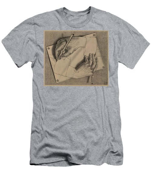 Drawing Hands Men's T-Shirt (Athletic Fit)