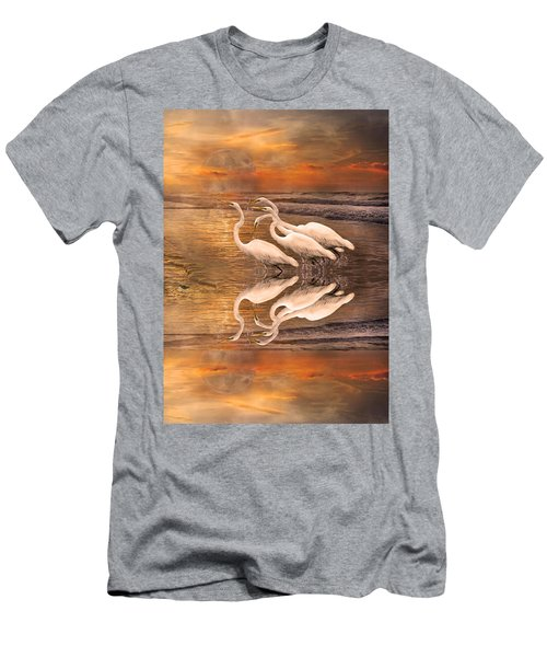 Dreaming Of Egrets By The Sea Reflection Men's T-Shirt (Athletic Fit)