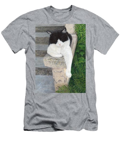 Men's T-Shirt (Slim Fit) featuring the painting Dreaming Of Stone Lions by Pat Erickson
