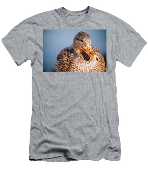 Duck In Water Men's T-Shirt (Athletic Fit)
