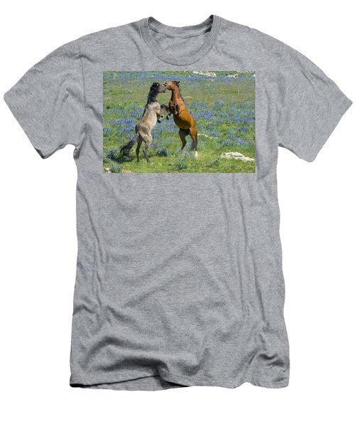 Dueling Mustangs Men's T-Shirt (Athletic Fit)